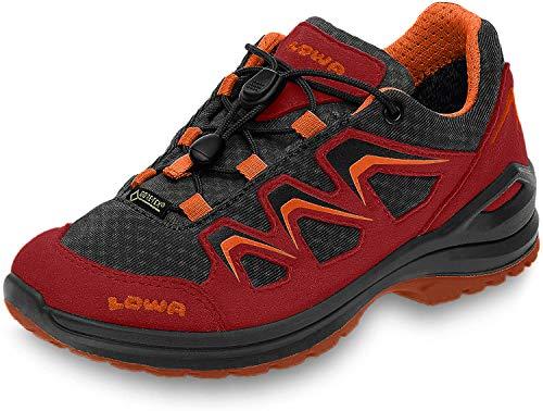 Lowa Unisex-Kinder Innox Evo GTX Lo Junior Wanderschuhe, Rot (Rot/orange), 33 EU