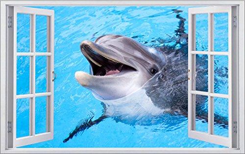 Delfine Wasser Tier Wandtattoo Wandsticker Wandaufkleber F1300 Größe 70 cm x 110 cm