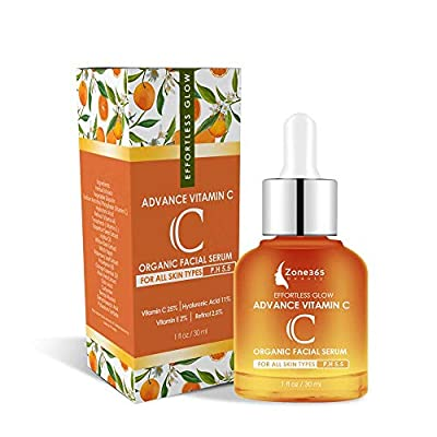 Vitamin C Serum for Face with Hyaluronic Acid Retinol and Vitamin E, Wrinkles, Dark Circles, Fine Lines, and Sun Damage Corrector (P.H 5.5 for Sensitive Skin)