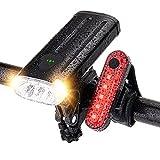 自転車 ライト 4000mAh大容量 USB充電式 LED IP65防水 モバイルバッテリー機能付き 高輝度 3つ 照明モード 900ルーメン 自転車ヘッドライト テールライト ターンランプ 停電対応 クロスバイク ロードバイク サイクリング 夜釣り 登山 キャンプ