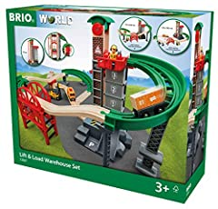 Product includes - The Lift & Load Warehouse Set is a 32 piece train set that includes a 4-level elevator, vehicles, tracks and everything you need for a lift and load station. It's complete with supports, bridges and figures. A must have for any tra...