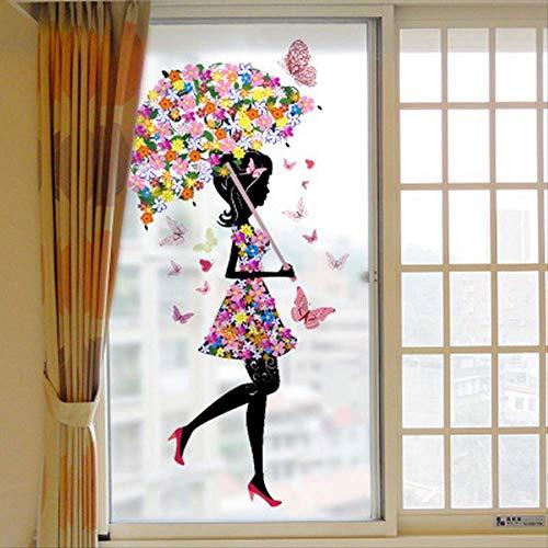 Persönlichkeit neue Schmetterling Blume Fee Regenschirm Regenschirm Wandbild Kinderzimmer Kinderzimmer Umweltschutz Wandaufkleber