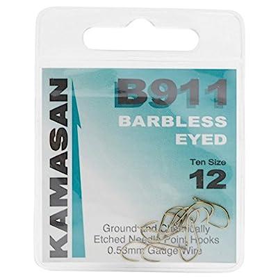KAMASAN B911 Extra Strong Eyed Fishing Hooks - Size 12, One Size