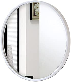 Qing MEI Mirror Bathroom Wall Mounted Round Vanity Mirror Bathroom Mirror Vanity Mirror Round Wall Bathroom Toilet Mirror (Gold, Black, White) (Color : White, Size : 70CM)