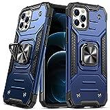 DASFOND Diseñado para iPhone 12/iPhone 12 Pro Funda, Funda Protectora de Grado Militar para teléfono con Soporte Mejorado [Soporte magnético] para iPhone 12/iPhone 12 Pro de 6,1'', Azul