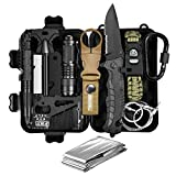 Gift for Dad Men Him Husband Boyfriend Teen Boy, Fathers Day Gifts, Survival Kits 11-in-1, Survival Gear, Fun Gadget Mens Gifts Ideas, EDC Emergency Tool and Everyday Carry Gear, Official Survival Kit