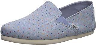 Women's Redondo Loafer Flat light bliss blue speckled chambray polka dots 12 B Medium US