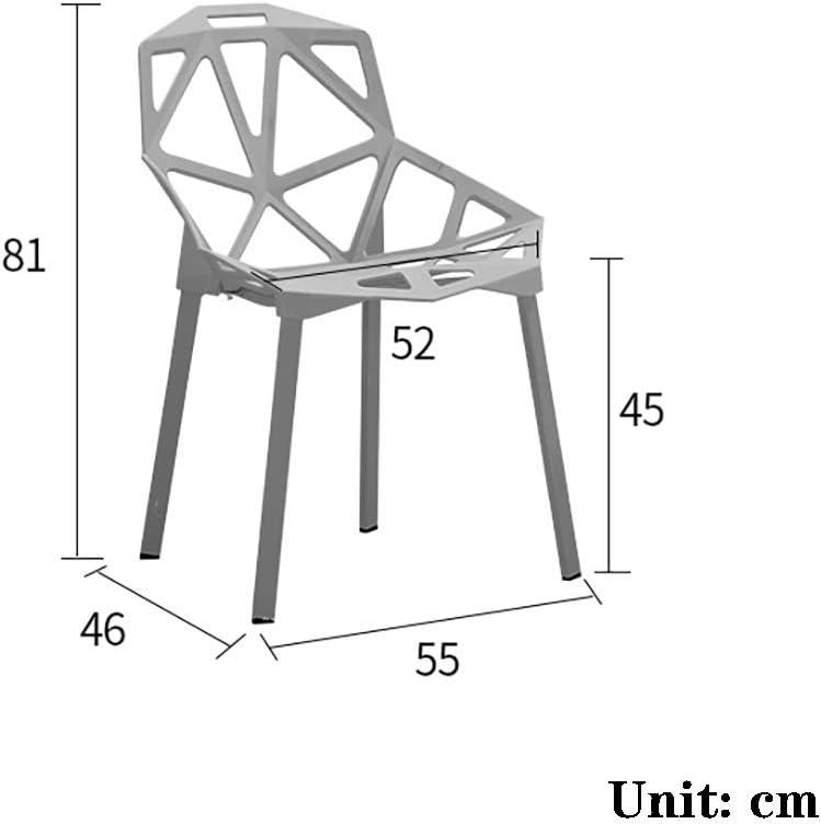 HEG Chaise en Plastique Retour à la Maison en Plastique personnalité Art thé Boutique Table et chaises Table à Manger Chaise Chaises (Color : Yellow) Yellow