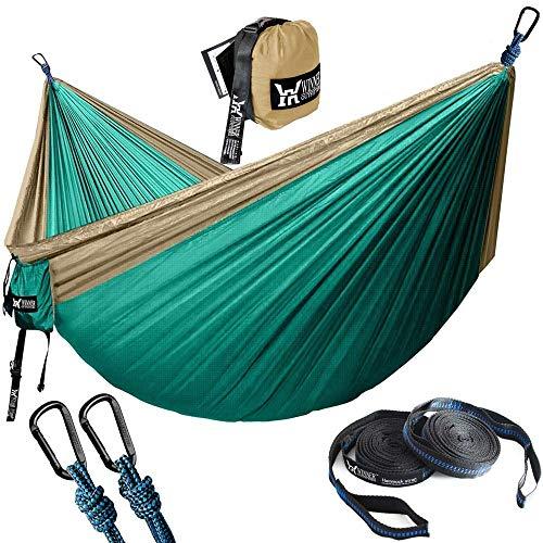 OH Hamocks Camping Haa Turista Al Aire Libre Colgando Haas Portátil Paracaídas Nylon Senderismo Haa para Viajar Fácil de limpiar