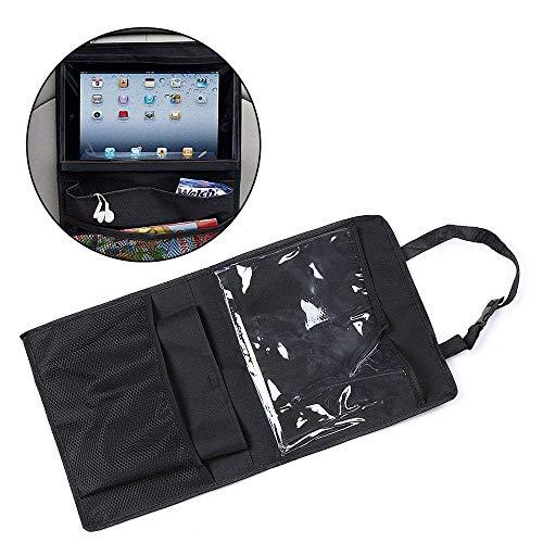 lkjf Practical Kids New Multi-use Car Rear Seat Organizer Hanging Tablet PC Holder Storage Bag