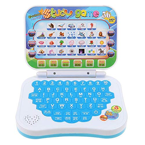 Freedomanoth Pre School Laptop Interactive Educational Kids Computer Toy Children Early Learning Machine For Kids Including 5 Learning Modes