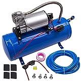 maXpeedingrods 12V 150PSI Compresseur d'Air Gonfleur de pneu avec réservoir de 6L pour Camion/Véhicule/Train/Pneumatique