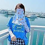 KitchenMe Sommer Sonnenschutz Schleier weibliche Gesichtsmaske Abdeckung Gesicht Gesicht EIS Seide...