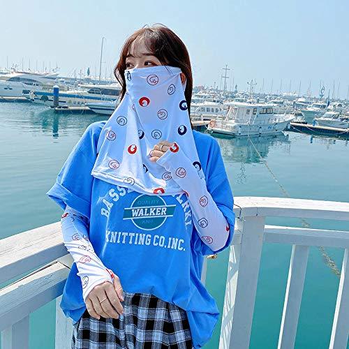 KitchenMe Sommer Sonnenschutz Schleier weibliche Gesichtsmaske Abdeckung Gesicht Gesicht EIS Seide Treiben Artefakt Hals und Nase Maske-Entenkopf