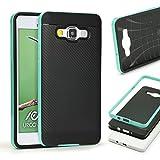 Urcover® Hybrid Case Carbon Style Housse de Protection | Sony Xperia Z3 Mini Compact | Plastique et...