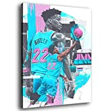 GDFG Miami Heat Basketball Player Jimmy Butler Poster Decorative Painting Canvas Wall Art Living Room Posters Bedroom Painting 20×30inch(50×75cm)