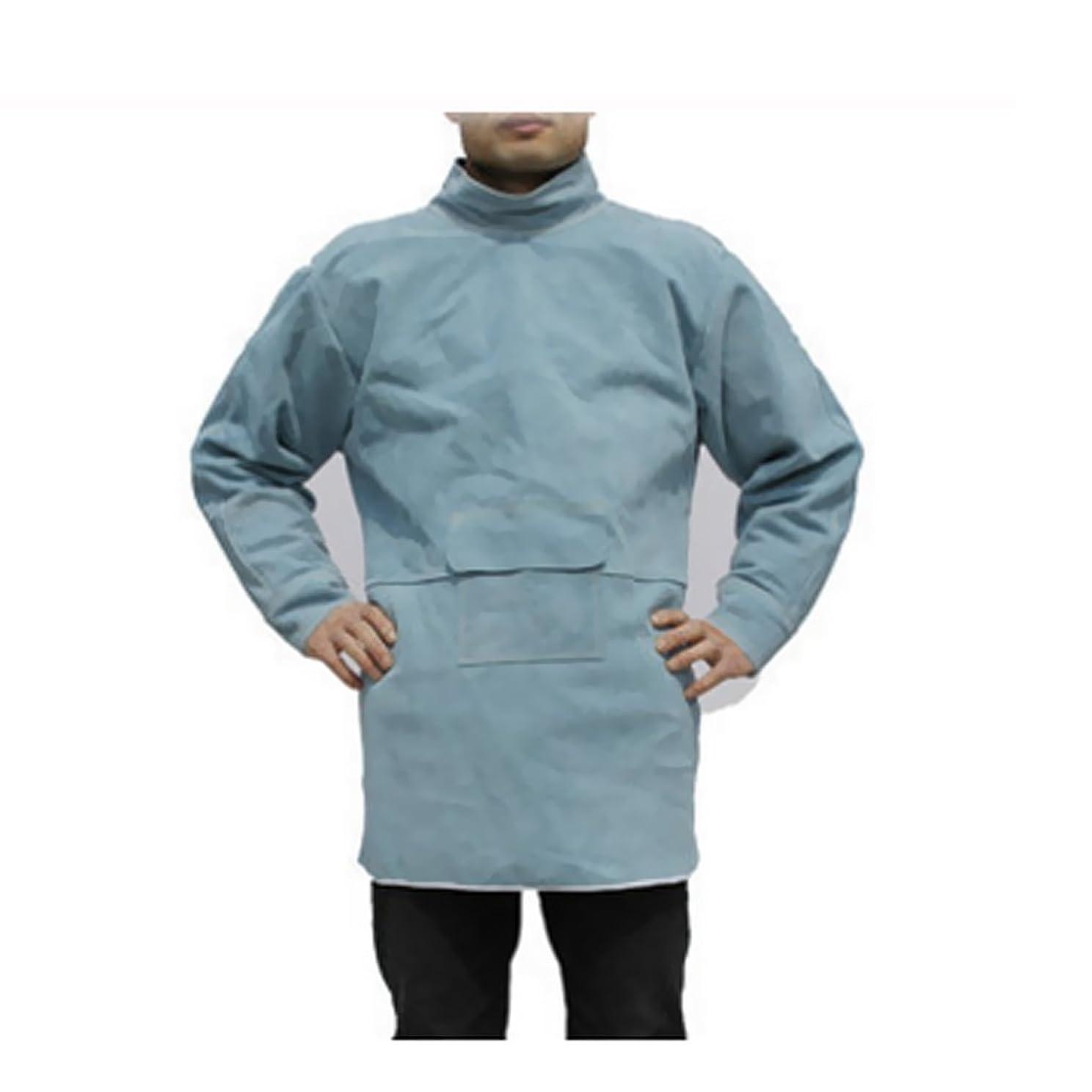 に負ける慣らす風変わりなKESOTO プロ仕様 溶接ジャケット 作業着 やけど対策 全4サイズ2色選択 人工牛革 エプロン  - 85cm 青
