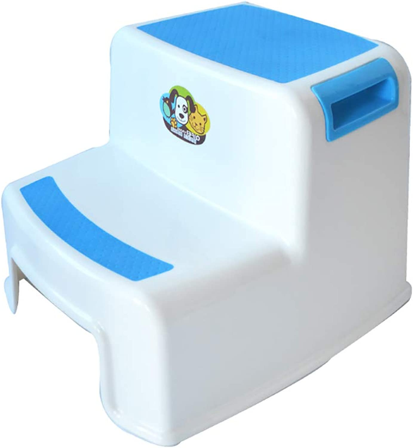 Double Step Stool for Kids, Slip Resistant Soft Grip
