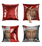 Christmas Romantic Jeff Goldblum C13 Sequin Pillow, Merdmaid Magic Pillow, Sequins Pillowcase, Gift for Him Or Her, Funny Present Christmas Or Birthday, Reversible Scales Pillow