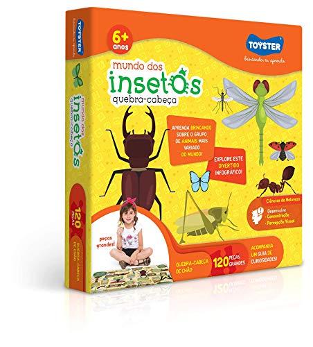 Quebra-Cabeça Grandão 120 peças - Explorando O Mundo dos Insetos, Toyster Brinquedos, 2571