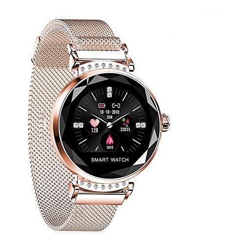Fitnessuhr mit Blutdruckmessung FüR Damen Intelligente Uhr Wasserdicht Pulsuhren Fitness Tracker Smartwatch Bluetooth,1.04Zoll Touchscreen,Elegant,Gut Bedienbare,TäGlichen Leben (RoséGold)