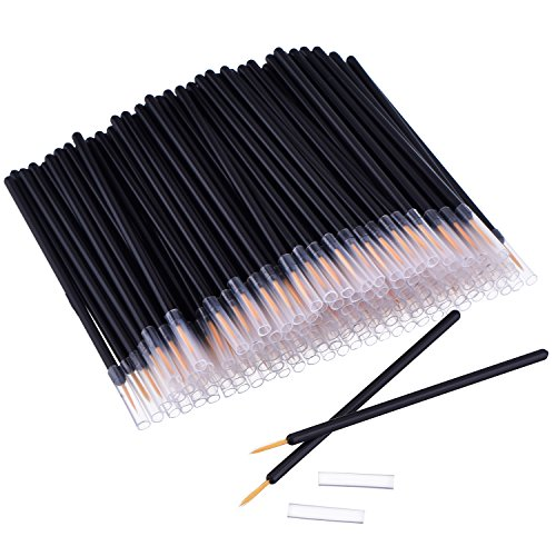 eBoot 150 Pack Disposable Eyeliner Brush Applicator Cosmetic Eye Wands Makeup Tool