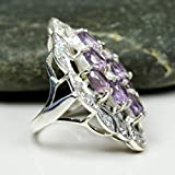 Zoom IMG-1 Jewelryonclick Naturel Am thyste Violet