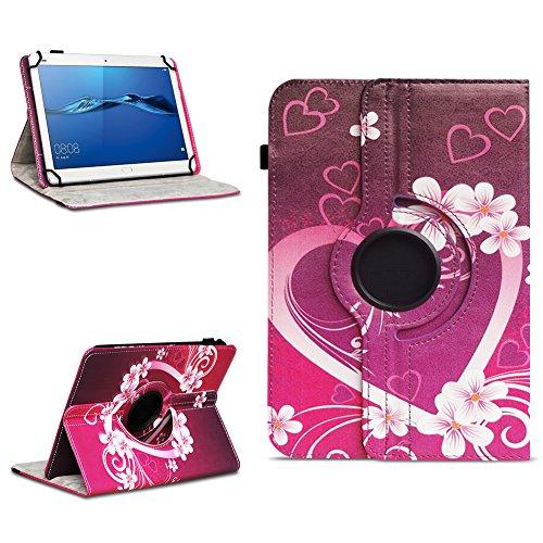 NAmobile Schutzhülle kompatibel für Huawei MediaPad T1 T2 T3 T5 10 Tablet Hülle Tasche Schutzhülle Hülle 360 Drehbar, Farben:Motiv 2