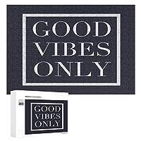 黒板の心に強く訴える活版印刷GOOD VIBES ONLY 300ピースのパズル木製パズル大人の贈り物子供の誕生日プレゼント