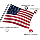 Best American Flag 3x5 Outdoors - SIX FOXES American Flag 3x5 ft, Heavyweight US Review