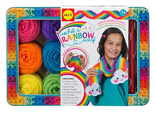 Alex Toys Crochet A Rainbow Scarf Kit