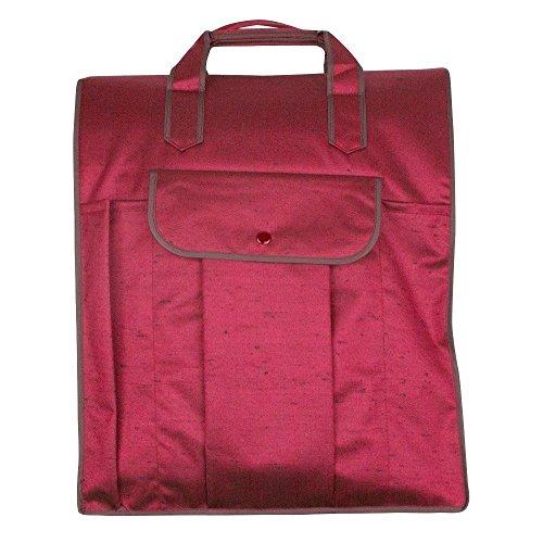 KYOETSU Japanische Tsumugi Stofftasche für Kimono, vertikal lang, Rot (rot), Einheitsgröße