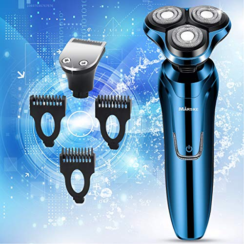 Vifycim Electric Shavers for Mens,Electric Razor Dry Wet Waterproof Mens Rotary Facial Shaver, Portable Face Shaver Cordless Travel USB Rechargeable Rotary Shaver with Hair Clipper for Husband Dad
