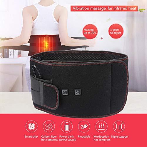 WAZZN Lumbar Cinturón De Calefacción, Calor Lumbar, Faja Lumbar para El Alivio del Dolor Abdominal Artrítico De La Espalda Baja, Hombres Y Mujeres