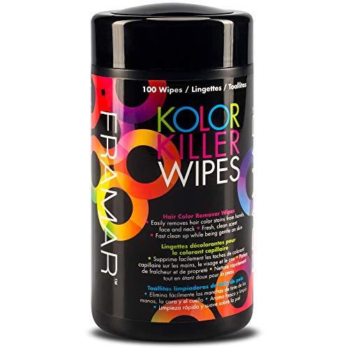 Framar Kolor Killer Wipes – Hair Dye Remover, Hair Color Remover – Wipes Dispenser of 100