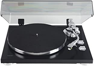 TEAC TN-400S Belt-Driven Turntable with S-Shaped Tonearm (Gloss Black)
