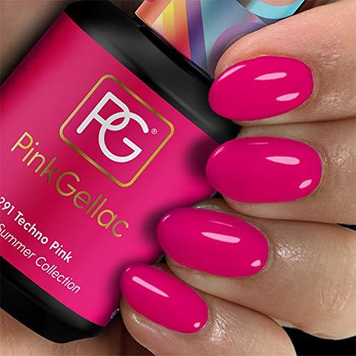 Pink Gellac Gel Nagellak Kleur 291 Techno Pink