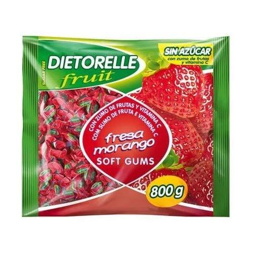 Dietorelle Caramelos de goma, sabor fresa, 800 g, 1 unidad