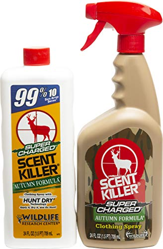 Scent Killer 579 Wildlife Research Super Charged Autumn Formula Spray 24 24 Combo, 48 oz.