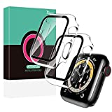 [2 Pack] TOCOL Case for Apple Watch 42mm Series 3/2/1 with Built-in Tempered Glass Screen Protector, All-Around Ultra-Thin Bumper Full Cover Hard PC Protective Clear Case for iWatch 42MM