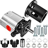 Bestauto Log Splitter Pump Kit 13 GPM Hydraulic Pump 2-Stage Log Splitter with Jaw Coupler and Pump Bracket for Small Engine Mounting Wood Splitter and Wood Splitter Pump Parts