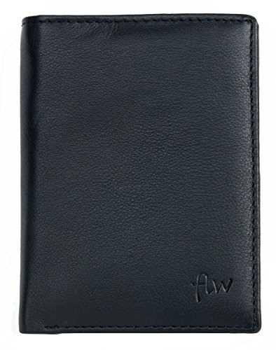 Price comparison product image Men's Soft Genuine Leather Wallet with Removable Document Holder