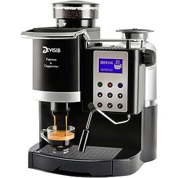 LinZX Máquina de café Espresso automática con el Molino de Grano ...