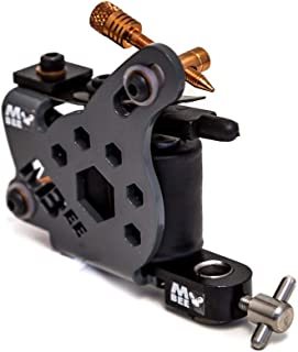 Micky Bee Professional Tattoo Machine Coil Gunmetal Honey Color Shader 10 Wrap Coils