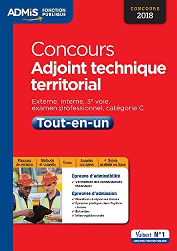 Concours Adjoint Technique Territorial Categorie C Tout En Un Concours 2018