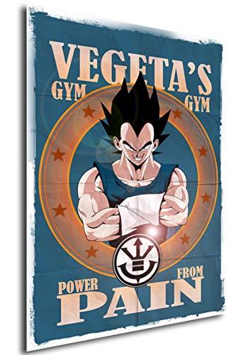 Instabuy Posters Dragon Ball Vintage Vegeta Gym - A3 (42x30 cm)