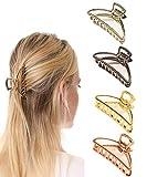 Paquete de 4 pinzas para el cabello Pinzas metálicas antideslizantes Accesorios para el cabello de moda para mujeres niñas