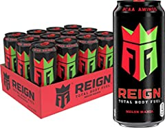 THE ULTIMATE FITNESS FOCUSED BEVERAGE- blended with BCAAs, 300 mg of natural caffeine, CoQ10 & Electrolytes, Reign Total body fuel is designed for your active lifestyle. Offering zero sugar, 10 Calories, and zero artificial Flavors & Colors, Reign is...