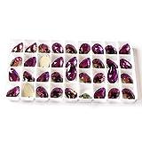 3230 Coser en diamantes de imitación Colorido agujero Piedra caída Venta al por mayor Flatback Craft Accesorios Cristal Strass para la decoración de la ropa, Amatista, 7x12mm 96pcs