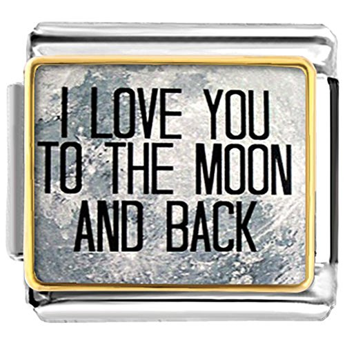 Charms Uniqueen I Love You To The Moon And Back Italian Nomination Charms Fit Classic Links Bracelet